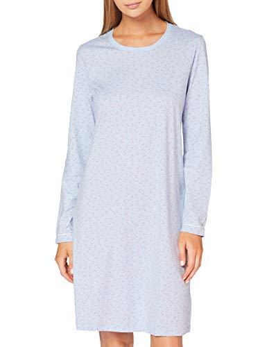 Seidensticker Damen Women Sleepshirt, Long Sleeve Nachthemd, hellblau, 042