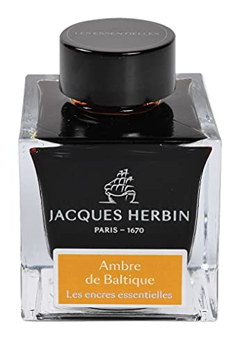 Jacques Herbin 13141JT - Botella de tinta de 50 ml para bolígrafo y bolígrafo de punta redonda