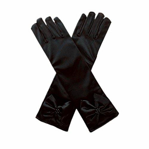 DreamHigh Kids Stretch Satin Long Finger Gloves for Flower Girl...