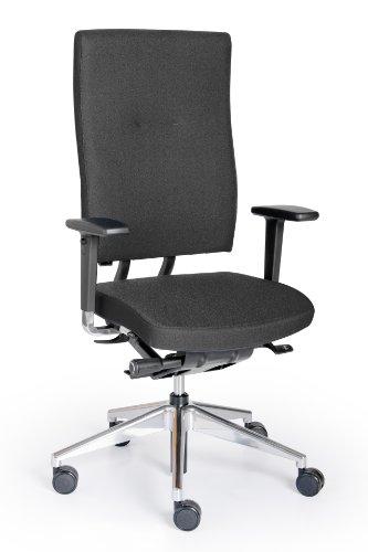 Rohde und Grahl xpendo Ergonomischer Bürodrehstuhl, Bezug schwarz, mit Armlehnen