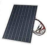Anne KuponuBN 18V 30W Flexible Autobatterie Solar Charger Tragbares Solarpanel-Ladegerät mit Ladekrokodilklemme - Schwarz