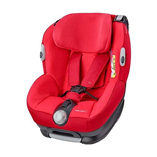 Bébé Confort OPAL, Silla de coche bebé, R44/04, a contramarcha o sentido de la marcha, ajustable y reclinable, instalación con cinturón de seguridad, 0 meses-4 años, 0-18kg, gr.0+/1, Vivid Red (rojo)