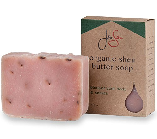 Jensan Handmade Patchouli Rose Shea Butter Soap Bar
