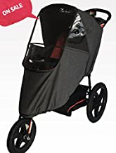 Esther Natural Dacron Stroller Weather Shield Made Of Water-proof With Zipper And Optical Window On Three Sides Screen With Free and Quick Shipping (Linen Grey)