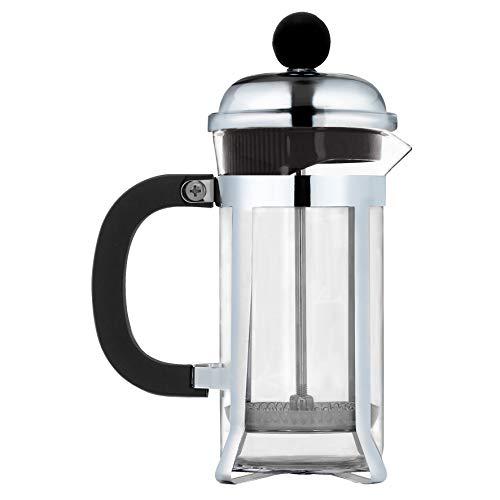 Mimo Style Cafeteira Prensa Francesa Inox, Capacidade 350 ml, Com Haste e Alça, Resistente, Suporta Altas e Baixas Temperaturas (-20 °C a 180 °C), Excelente Sistema de Filtragem