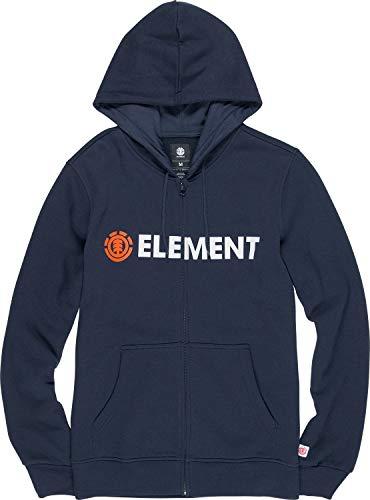 Element Uomo Blazin Zip Hood Felpa con Cappuccio, Uomo, L1ZHA7 ELF8 3918, Eclipse Navy, XS