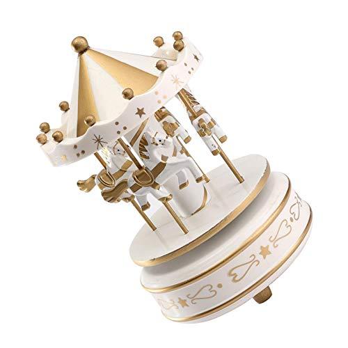 Caja de música giratoria, Caja de música Trojan Clockwork, cumpleaños, Caja de música con Plato Giratorio de Oro, Música giratoria