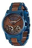 LAiMER orologio in legno di noce - ALEXANDER - orologio da polso automatico...