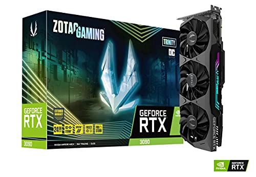 Price comparison product image ZOTAC Gaming GeForce RTX 3090 Trinity OC 24GB GDDR6X 384-bit 19.5 Gbps PCIE 4.0 Gaming Graphics Card,  IceStorm 2.0 Advanced Cooling,  Spectra 2.0 RGB Lighting