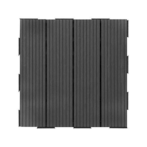 Lot de 4 dalles de terrasse clipsables en composite...