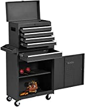 New 5 Drawer Rolling Tool Chest High Capacity Portable Tool Box Organizer on Wheels, Locking System, Garage Removable Tool Storage Cabinet (Black)