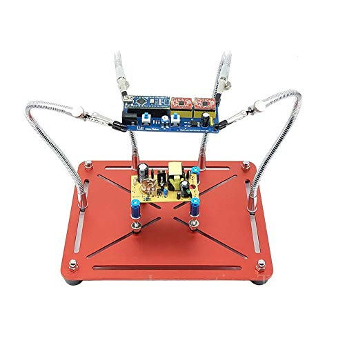 ZHIRCEKE 2 en la Figura 1 Pantallas en Movimiento, Soporte de Placa de Circuito PCB móvil 4 Brazo Flexible de Metal, Ingeniería eléctrica Reparación Educación, Cerradura eléctrica