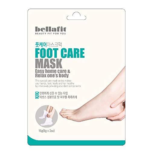 [Bellafit]Mascarillas para pies - Calcetines hidratantes para Talones agrietados y pie seco 5 paquetes