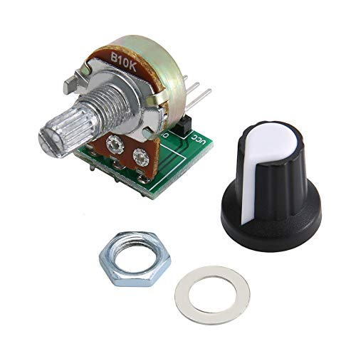 greenwoodhomer 10K Ohm Potentiometer Module Resistor Module 3 Pin Linear Taper Rotary Potentiometer Module For Arduino With Cap