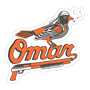 3 Pcs/Pack  Omar The Wire Baltimore Oriole 3x4 Inch Vinyl Stickers Decals for Wall Laptop Bike Car Bumper Helmet Water Bottle