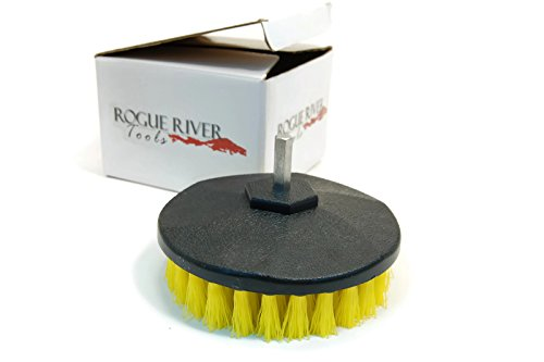 Rogue River Tools Rotary Drill Boat Hull Cleaning Brush