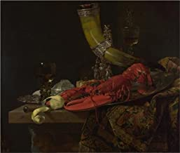 Oil Painting 'Willem Kalf,Still Life With The Drinking-Horn Of The Saint Sebastian Archers' Guild, Lobster And Glasses, About 1653' Printing On Perfect Effect Canvas , 20x24 Inch / 51x60 Cm ,the Best Home Theater Gallery Art And Home Gallery Art And Gifts Is This Vivid Art Decorative Prints On Canvas