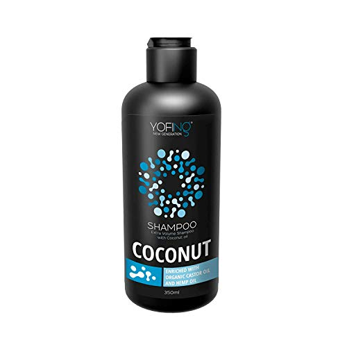 Coconut Oil Shampoo For Extra Volume Hair Enriched with Pure Dead Sea Minerals and Organic Coconut Oil Improves Hair Growth