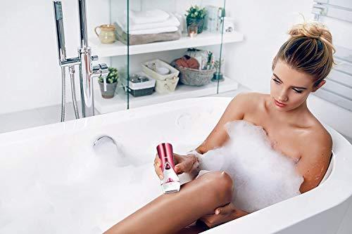 Depilatore Elettrico Donna Wet&Dry, Epilatore 3-In-1 Ricarica Usb, Bikini Styler, Rifinitore Pedicure Elettrico, Senza Fili