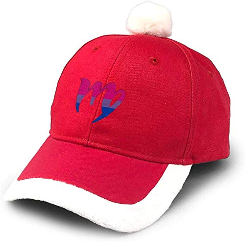 GGdjst Bisexual Pride Flag Virgo Zodiac Nikolausmütze Dad Trucker Santa Hat Red Xmas Weihnachtsmützen Adult Women Men Children Teen Boy Girls Party Decor Gift Decorations Ornament