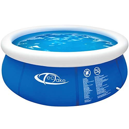 TecTake 800580 Piscina Desmontable, Swimming Pool, Tejido de PVC, Construcción Robusta, Fácil Montaje, Compacta - Disponible en Varios Modelos (Tipo 4 | No. 402897)
