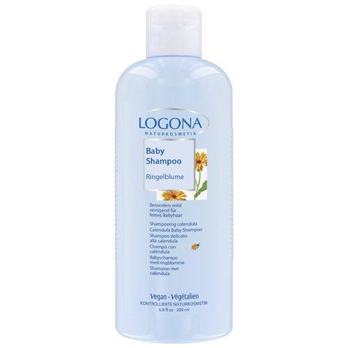 LOGONA Naturkosmetik Baby Pflegebad Ringelblume, Reinigt empfindliche Babyhaut besonders sanft und schonend, Schützt sie vor dem Austrocknen, Vegan, 200ml