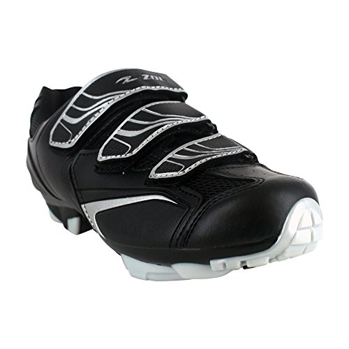 ZOL Trail Scarpe per ciclismo, per mountain bike e attivit ciclistica in interni, Black with Silver, 39 CM (EU)/ 7 (US)