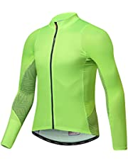 Santic Maillot Bicicleta Hombre Maillot Ciclismo con Mangas Largas con Bolsillos como Camiseta Interior en Invierno - Universal