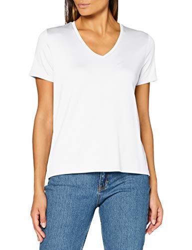 Scotch & Soda Maison Womens Kurzärmliges V-Ausschnitt aus Tencel T-Shirt, White 0006, XS