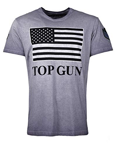 Top Gun Herren T-Shirt Mit Us-Flagge Search Blue,l