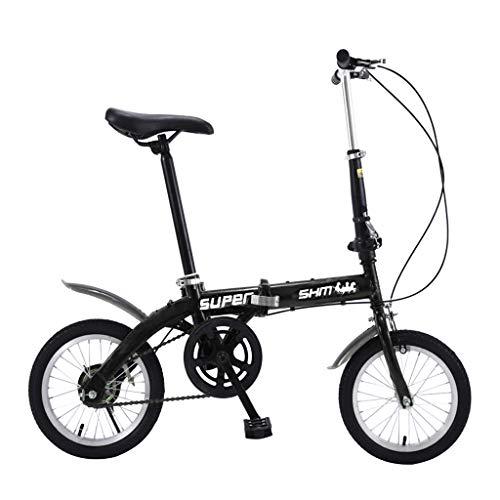 SHUANGA Leichtes Mini Faltrad Kleines tragbares Fahrrad Erwachsener Student 14 Zoll Klappfahrrad erwachsenes Kind Fahrrad fahren Leichtes Mini Faltrad Fahrrad mit variabler Geschwindigkeit