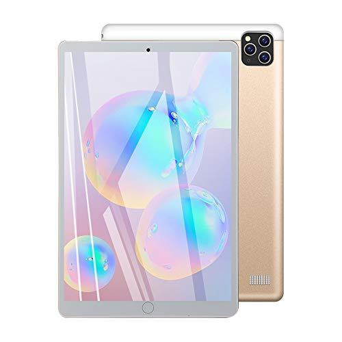 TGHY Tableta 10 Pulgadas, OS Android, Procesador Octa-Core, 2GB RAM 32GB ROM, Celular + Wi-Fi, Pantalla HD IPS, Bluetooth, Cámara 2MP + 8MP, Soporte para Llamadas Telefónicas 3G,Oro