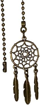 Popular products Bronze Color Fan Light Pull Elegant Catcher Chain Dream Ornament