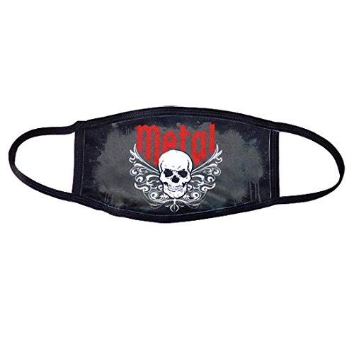 Heavy Metal und Hardrock Skull Totenkopf Stoff Mund-Nasen Maske/Community-Maske, wiederverwendbar, waschbar