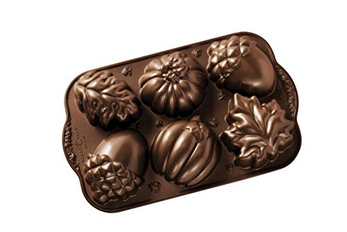 Nordic Ware Autumn Treats Pan, Bronze