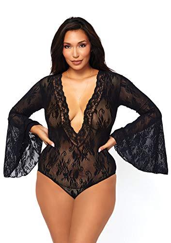 Very Sexy Lingerie Bell sleeved Bodysuit