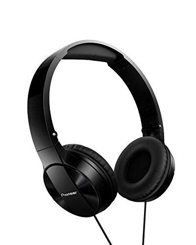 Pioneer MJ503 On-Ear Kopfhörer mit Kabel (hohe und ausbalancierte Klangqualität, gepolsterte Kopfbügel, faltbar und einfach zu transportieren, für iPod, iPhone & iPad zertifiziert), schwarz