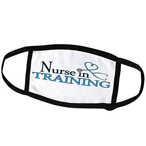 Promini Janna Salak Designs Monatsüberzug für Krankenschwester in der Ausbildung, blaues Herz-Stethoskop – Staubschutz für den Außenbereich