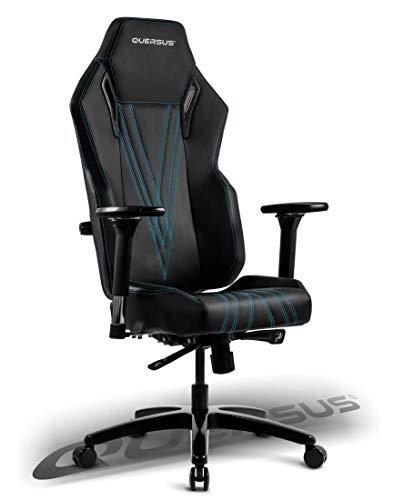 Quersus Vaos 503 - Seggiolino da gamer, in similpelle, taglia M-XL, colore: Nero/Blu