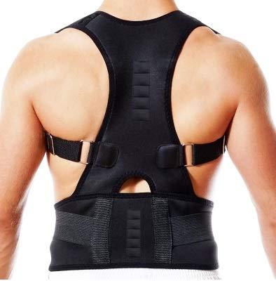 YSJ Korrektor der Rückenhaltung, verstellbare Haltungsstütze Magnet-Therapiegurte Nacken Schulter Gerade Korrektor Wirbelsäulengurt Megnetic Corset Unisex (Size : M)