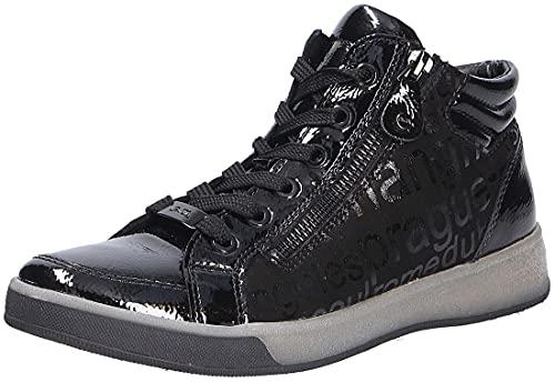 ara Damen ROM Sneaker, SCHWARZ,Nero, 38 EU
