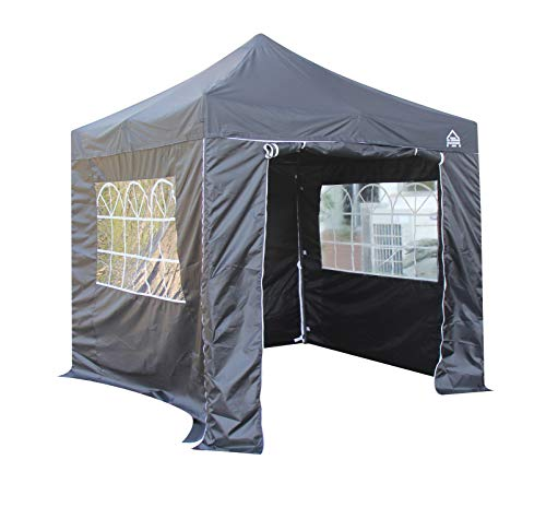 All Seasons Gazebos 2.5 x 2.5m Heavy Duty, Fully Waterproof Pop up Gazebo With 4 Side Walls (Black)