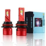 Alla Lighting Mini FL-BH 12500 Lumens Newest HB5 9007 LED Headlight Bulbs High Power 90W Dual Hi/Low Beam Xtreme Super Bright 6000K Xenon White Headlight 9007 Kits Bulbs Replacement for Cars Trucks