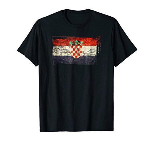 Unique Trendy & Vintage Croatia Flag Gift T-shirt G003711
