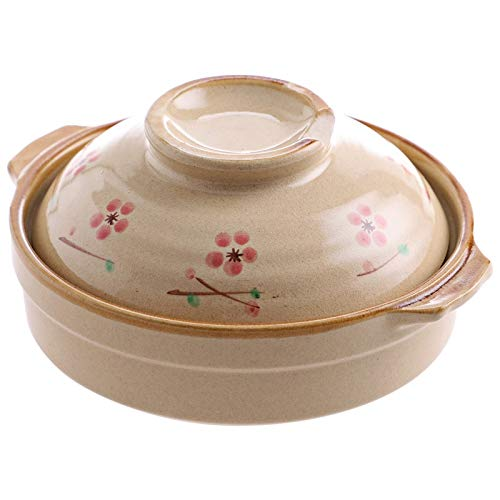 CJTMY Pot Crock Pot en céramique Pot Casserole marmite à Soupe Haute température résistant à Frire for Cuisson Cuisinière à gaz