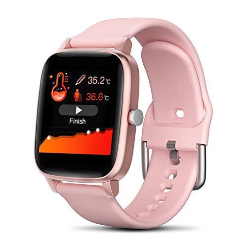 LYB New Smart Watch Men Women Sport IP67 Reloj Impermeable Reloj De La Velocidad del Corazón Monitor Smart Watch para iOS Android (Color : Pink)