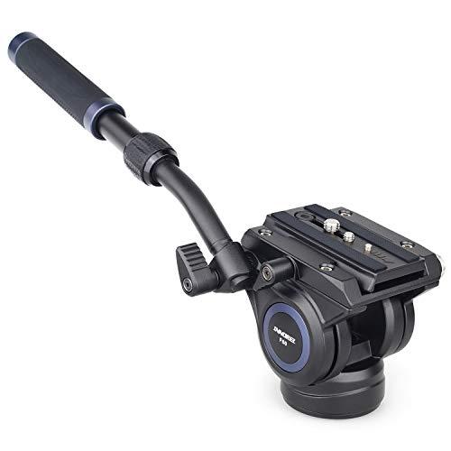 """Tête Fluide, caméra vidéo INNORELF60 CNC Trépied Tête panoramique en métal avec vis 3/8"""" et 1/4"""" Charge maximale 10kg, pour Caméscopes Reflex Numériques"""