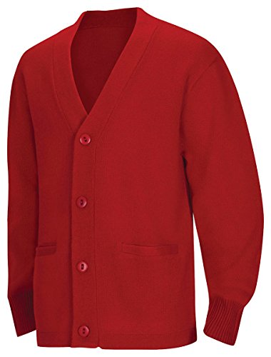 Classroom School Uniforms Men's Big and Tall Plus Size Adult Unisex Cardigan Sweater 2xl-3xl, Red, 3XL