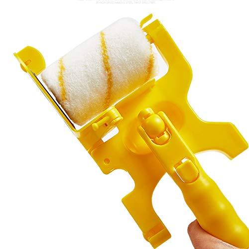 Cepillo de rodillo de recorte, cepillo de pintura de rodillo fácil de usar 26 x 12.7 cm de plástico (amarillo)