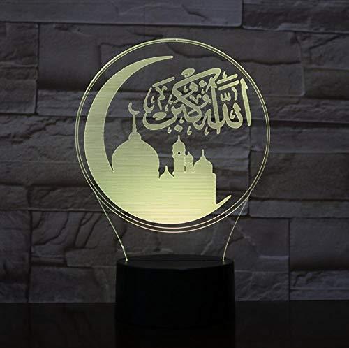 BDFS Moslemische kleine Lampe 3d Usb führte Acryl geführtes Licht 3d Nachtweihnachtsdekorationen Dropshipping Geschenk Weihnachtsgeschenk 3D